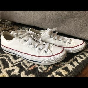 Converse Low White Sneakers Wms 8